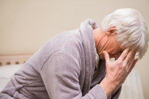 Senior man getting a headache