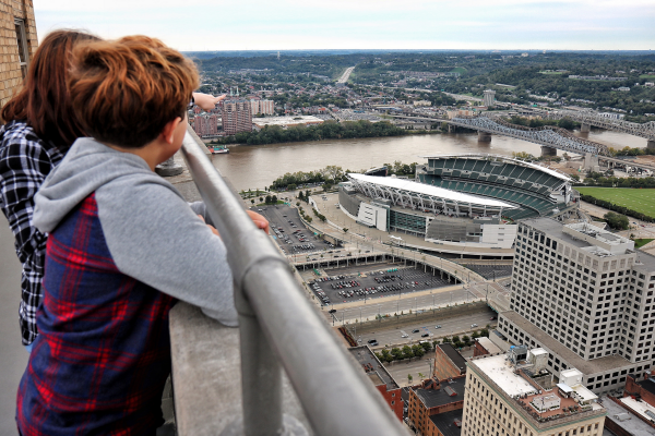 The Carew Tower Observation Deck is great activity for seniors who want to enjoy the view of the city.